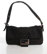 Fendi Brown Canvas Shoulder Handbag Size Small