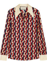 Gucci Printed Silk-twill Shirt - Red