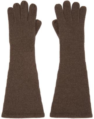 Totême Brown Cashmere Gloves