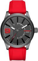Diesel Men's Red Silicone Strap Watch 46x53mm DZ1806