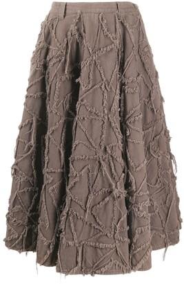 A.N.G.E.L.O. Vintage Cult 2000s Frayed Pattern Skirt