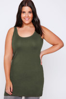 Yours Clothing Khaki Longline Vest Top