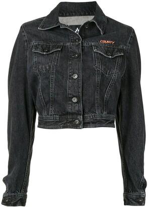 Marcelo Burlon County of Milan Cropped Denim Jacket