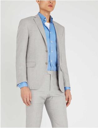 Eton Slim-fit herringbone cotton shirt