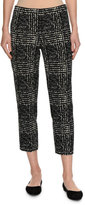 Piazza Sempione Audrey Prince of Wales Slim Cropped Pants