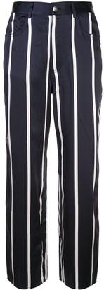 Fleur Du Mal Cropped Striped Trousers