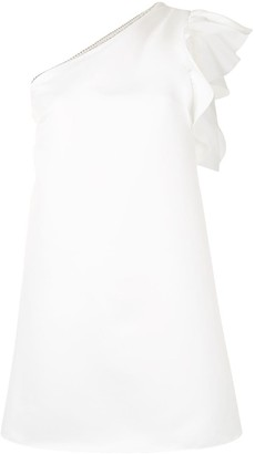 Jay Godfrey Ruffled One-Shoulder Mini Dress