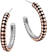 John Hardy Women's Dot Small Hoop Earring in Sterling Silver and 18K Rose Gold