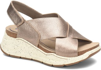 bionica Cross-Front Leather Wedge Sandals - Odessa