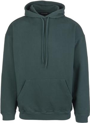 Balenciaga Woman Green Oversize Hoodie With Back Logo