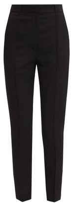Ann Demeulemeester Pintucked Slim-leg Wool-twill Trousers - Black