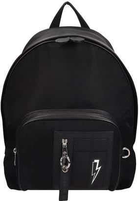Neil Barrett Backpack In Black Nylon