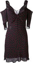 McQ by Alexander McQueen cold shoulder spot dress - women - Polyester - 40