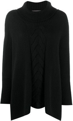 N.Peal Single Cable Oversize Cashmere Sweater
