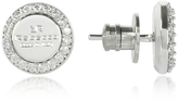 Rebecca Boulevard Stone Rhodium Over Bronze Stud Earrings w/Stones