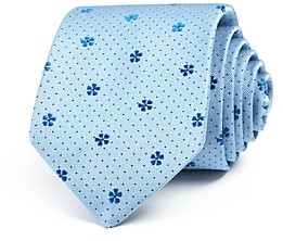 Paul Smith Floral & Dot Silk Skinny Tie