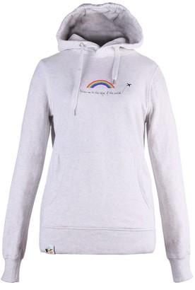 Blonde Gone Rogue Rainbow Organic Cotton Hoodie In Grey