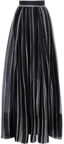 Martin Grant Striped Long Pleated Skirt