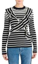 MSGM X Striped Knit Top