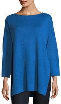 Eileen Fisher Organic Linen 3/4-Sleeve Top, Plus Size