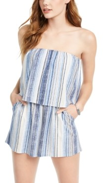 BeBop Juniors' Striped Popover Romper