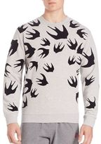 McQ Flocked Swallow Sweatshirt