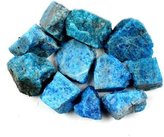 "Crystal Allies Materials: 1lb Bulk Rough Blue Apatite Stones from Madagascar - Large 1"" Raw Natural Crystals for Cabbing, Cutting, Lapidary, Tumbling, and Polishing & Reiki Crystal Healing *Wholesale Lot*"
