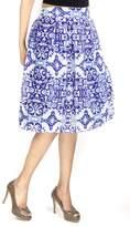 Fashion Pickle Print Midi Skirt