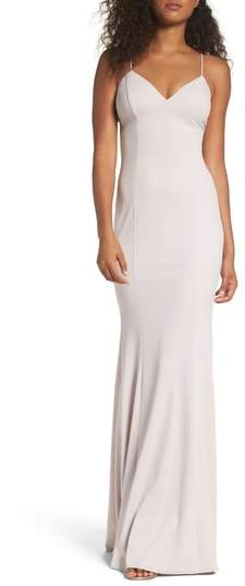 Katie May Women's Stretch Crepe Gown