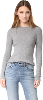 Alexander Wang Rib Knit Long Sleeve Top