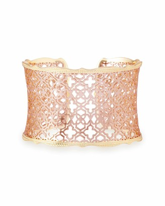 Kendra Scott Candice Cuff Bracelet for Women in Mixed Metal Filigree Fashion Jewelry 14k Gold-Plated and 14K Rose Gold-Plated