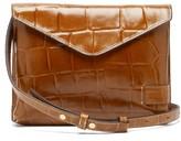 STAUD Hollie Crocodile-effect Leather Cross-body Bag - Womens - Tan