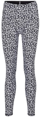Adam Selman Sport French Cut leopard-print leggings