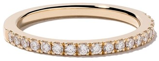 De Beers 18kt yellow gold DB Classic half pave diamond band