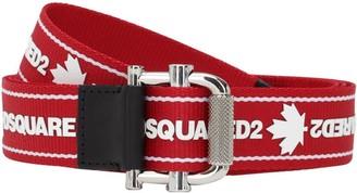 DSQUARED2 3.5cm Logo Tape Tech Webbing Belt