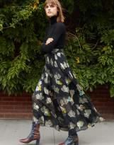 Cynthia Rowley Metallic Floral Maxi Skirt