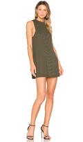 A Fine Line Slay Stripe Dress in Dark Green