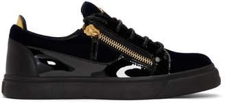 Giuseppe Zanotti Navy and Black Frankie Sneakers