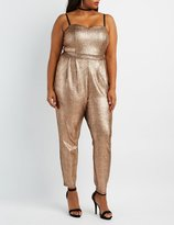 Charlotte Russe Plus Size Shimmer Sweetheart Jumpsuit