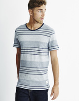 ONLY & SONS Mens Jaquard T-Shirt Blue