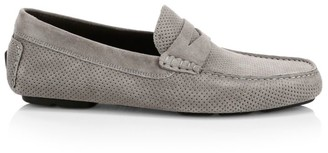 To Boot Pace Perforated Suede Driving Loafers