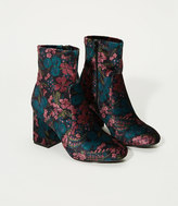LOFT Floral Velvet Stretch Booties