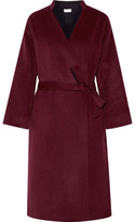 Paul & Joe Boucledor Belted Wool-felt Coat - Burgundy