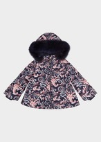 Versace Baroque Print Quilted Parka