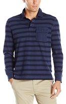 Nautica Men's Slim Fit Striped Long Sleeve Polo Shirt