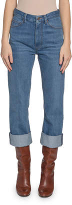 Marc Jacobs Runway) High-Rise Cuffed Jeans