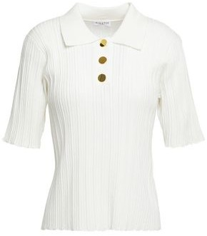 Claudie Pierlot Pointelle-knit Polo Shirt