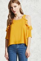 Forever 21 Ruffle Trim Open-Shoulder Top