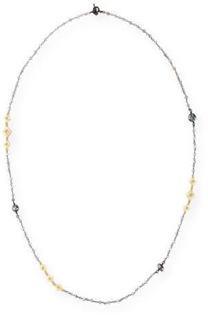 Armenta Old World Mystic Moonstone & Keshi Pearl Station Necklace