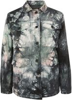 Topshop Tye-Dye Military Jacket